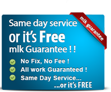 Same day service or it's free! MLK Guarantee!