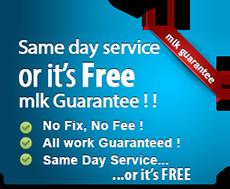 Same day service or it's free! MLK Guarantee!